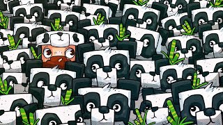 We Filled Panda's House With Pandas! - Minecraft