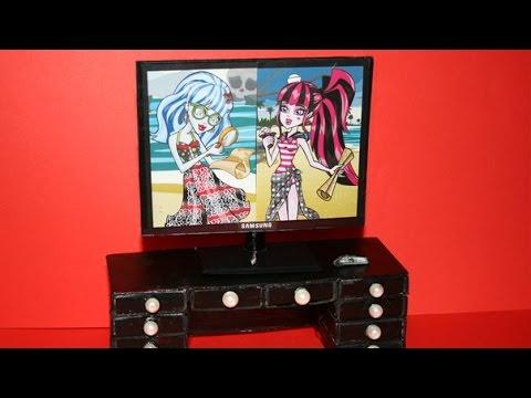 Как сделать телевизор из коробки своими руками
