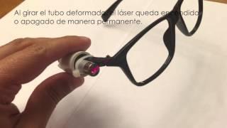 Vídeo como hacer gafas laser
