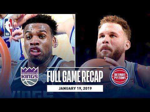 Video: Full Game Recap: Kings vs Pistons | Hield Wins It At The Buzzer