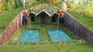 Video Build House Under The Wood roots & Add Two Swimming Pool MP3, 3GP, MP4, WEBM, AVI, FLV Januari 2019