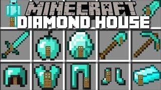 Video Minecraft DIAMOND HOUSE MOD / LIVING INSIDE A DIAMOND BLOCK!! Minecraft MP3, 3GP, MP4, WEBM, AVI, FLV Januari 2019