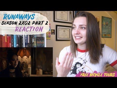 """Marvel's Runaways Season 2 Episode 2 """"Radio On"""" REACTION Part 2"""