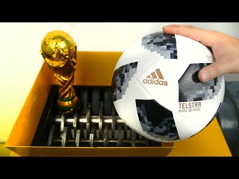 SHREDDING WORLD CUP SOCCER BALL!