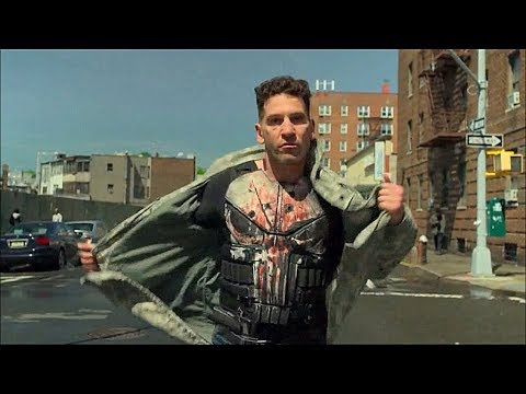 Punisher enfrenta a Billy/Jigsaw en la calle (parte 1) - THE PUNISHER 2X07 - Sub. Español.