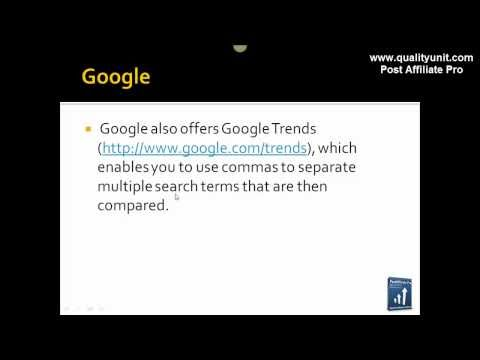 Determining Keywords – How to drive traffic to your affiliate program