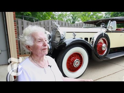 101 year old lady and her 83 year old car!