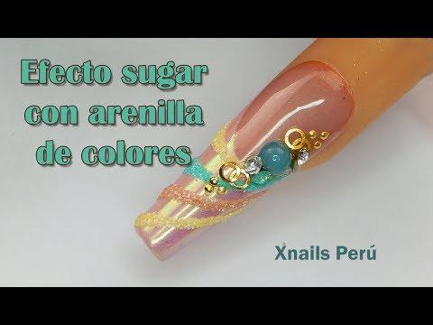 Diseños de uñas - Uñas con efectos Sugar y Sirena / Xnails Peru