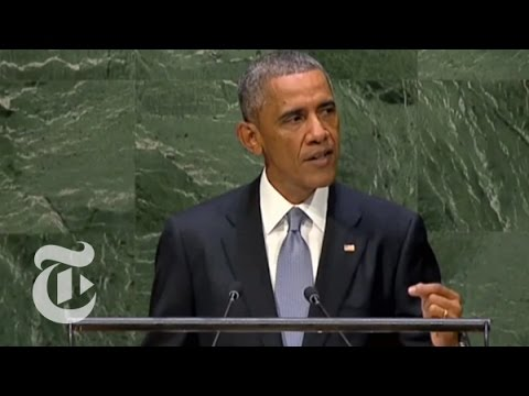 un - President Obama spoke on Wednesday at the 69th session of the United Nations General Assembly. Read the story here: http://nyti.ms/1psnaZd Subscribe to the T...