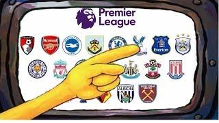 Premier League Portrayed by Spongebob