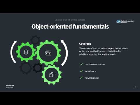 Teaching Object-Oriented Programming With Python