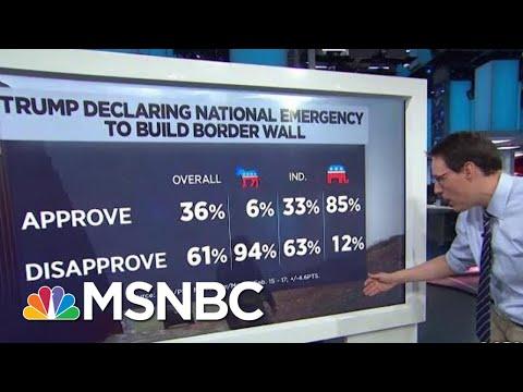 Poll: 61% Disapprove Of President Donald Trump's National Emergency | Hardball | MSNBC