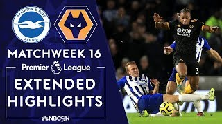 Brighton v. Wolves | PREMIER LEAGUE HIGHLIGHTS | 12/08/19 | NBC Sports