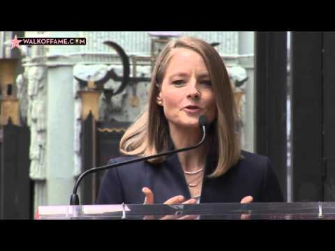 Jodie Foster Walk of Fame Ceremony