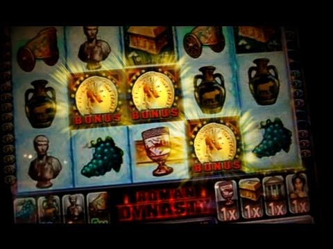 Bonus + Retrigger BIG WIN on Roman Dynasty Slots - 5c