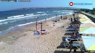 Пляж в Щёлкино, 26.07.2015 - time-lapse с камеры 5