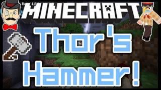 Minecraft THOR'S HAMMER Mod ! Throw Hammer&Strike Mobs with Mighty Lightning !