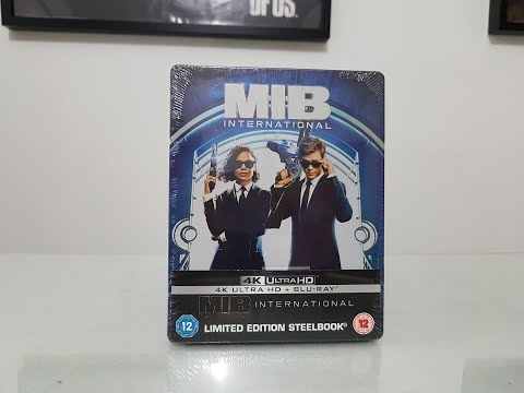MIB International 4k Steelbook Edition Bluray Movie unboxing