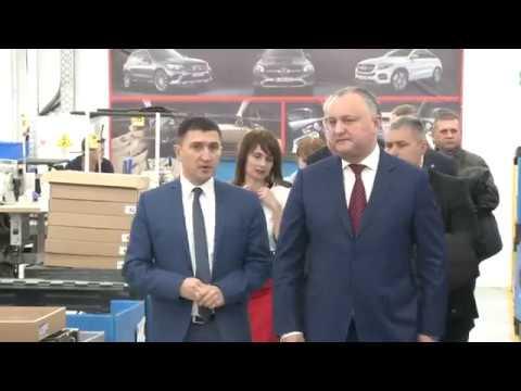 """Șeful statului s-a familiarizat cu activitatea Zonei Economice Libere """"Ungheni"""""""