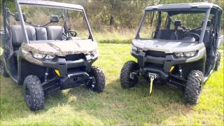 6. 2016 Can Am Defender HD8 XT and HD10 MAX walk around