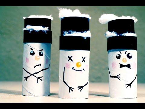 Поделки снеговика своими руками из картона