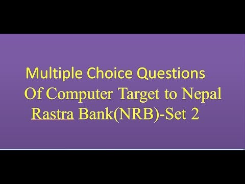 (Multiple choice questions of computer(set 2) - Duration: 29 minutes.)