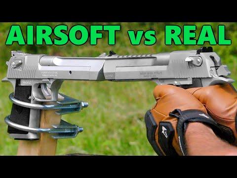 Firearms Destroying Plastic Replicas (Part 1) – Real Desert Eagle vs Airsoft Desert Eagle