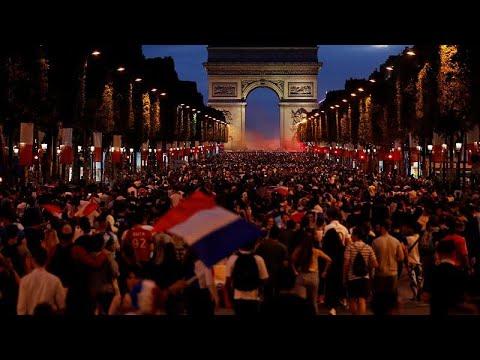 Μουντιάλ 2018: Πανηγυρισμοί στη Γαλλία για την πρόκριση στον τελικό…