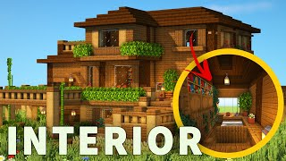 Minecraft: How to build a Large Wooden Mansion!!! (Interior Tutorial)
