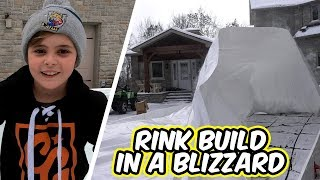 Trying to Build a Rink in a Blizzard (and breaking 9 year olds ankles)