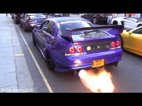 best nissan ever gt-r's r33's [!] & r35's! flames, revvs, accelerations