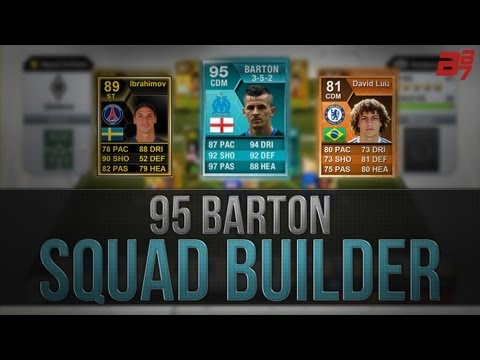 FIFA 13 Ultimate Team - Squad Builder - 95 Barton Player Card And IF Ibrahimovic Hybrid