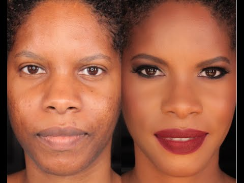 Contour & Highlight on brown skin :How to cover acne marks