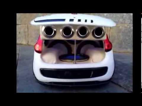 mini palio primeiro com 4 autos falantes da net !