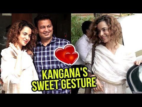 Kangana Ranaut Sweetest Gesture For MEDIA | Manika