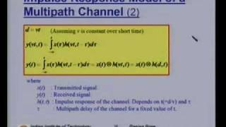 Lecture 14 - Mobile Radio Propagation II