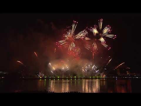 Màn trình diễn pháo hoa của đội Ý trong đêm 2-6-2018