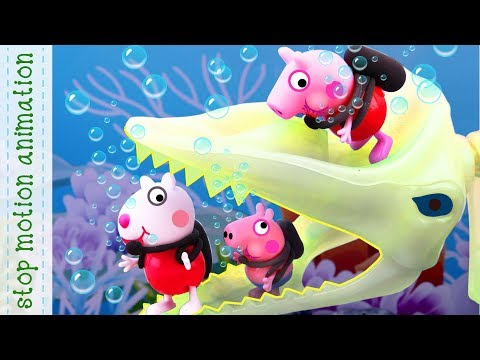 Diving adventure for children Peppa Pig toys animation new english episodes 2018