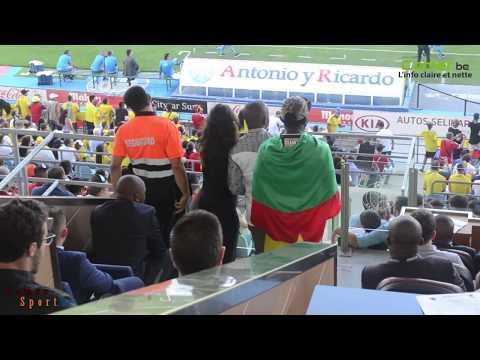 Séquence de jeu lors de la rencontre Cameroun - Colombie