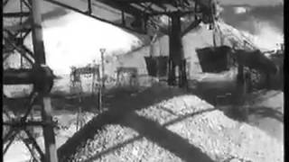 Куйбышевская ГЭС. Строительство.  1954 год