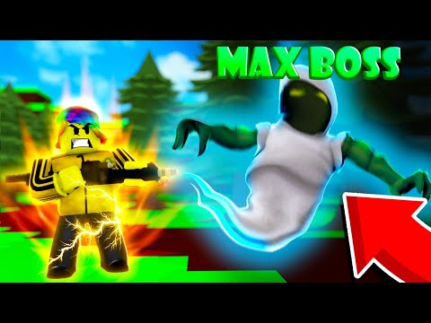 I Captured the MAX BOSS and got the BEST ITEM.. (Roblox Ghost Simulator)
