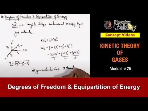 26. Class 11th Physics  | KTG | Degrees of Freedom & Equipartition of Energy | by Ashish Arora