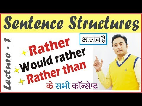 Use of Rather, Would Rather, Rather Than in English Grammar   How to use Rather in Hindi