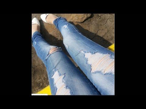 Как сделать рваные джинсы - DomaVideo.Ru