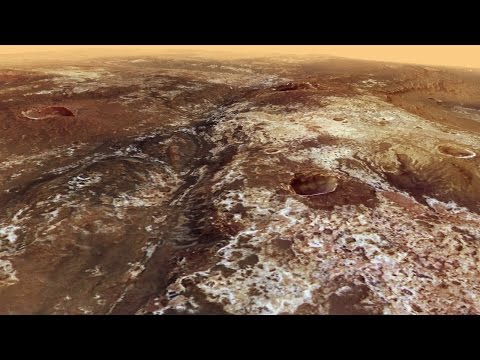 A Virtual Flyover of the Mawrth Vallis on the Surface of Mars by the Mars Express