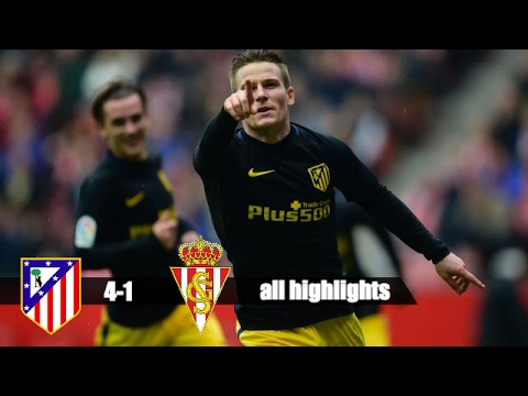 Atletico VS Gijon 4-1 - ALL HIGHLIGHTS AND GOALS (2-18-2017)