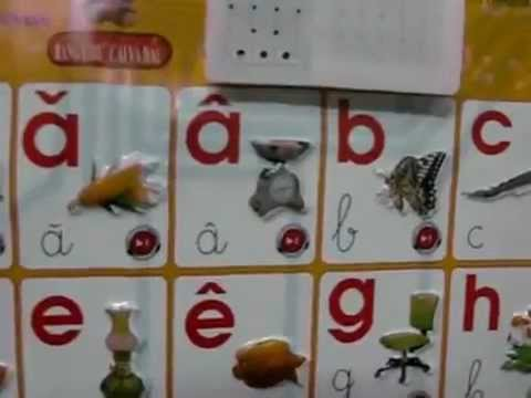 Bảng học chữ cái và học đếm cho trẻ em.