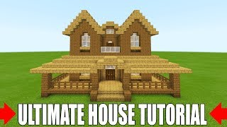 "Minecraft Tutorial: How To Make The Ultimate Wooden Starter House 2 ""Everything you need to survive"""