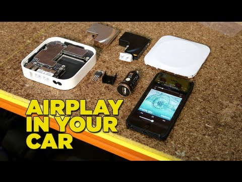 install - Want wireless audio in your car via Airplay? Marty and Moog show you a super simple budget DIY system made with hacked gear and cheap components. Details, di...