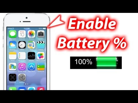 how to put percentage by battery on iphone
